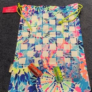 Lilly Pulitzer Beach Backpack Game Bag, NWT